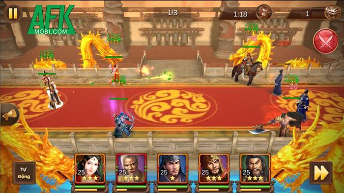 Tam Quốc Đại Chiến Mobile có lối chơi đấu tướng đơn giản đi kèm lớp đồ họa 3D đẹp mắt 6