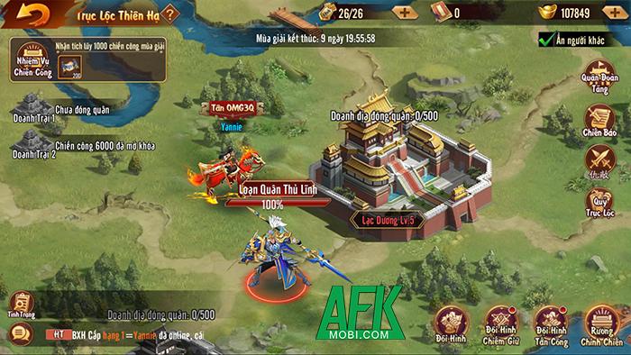 Trận Trục Lộc Thiên Hạ được tái hiện hoành tráng trong game đấu tướng Tân OMG3Q VNG 9