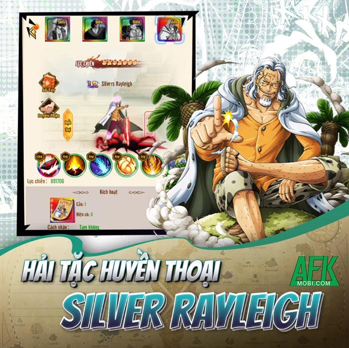Game One Piece - Thức Tỉnh Haki MIGA ra mắt tướng mới Silvers Rayleigh 0