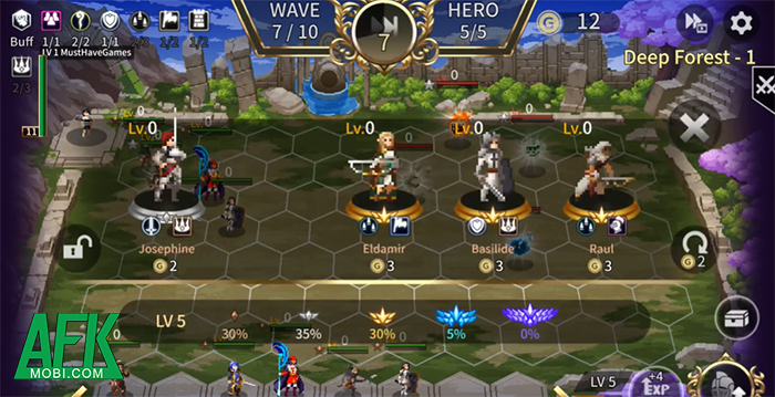 Heroic Tactics : DOT Casual Defense game cờ nhân phẩm đồ họa pixel đầy tính hoài cổ 1