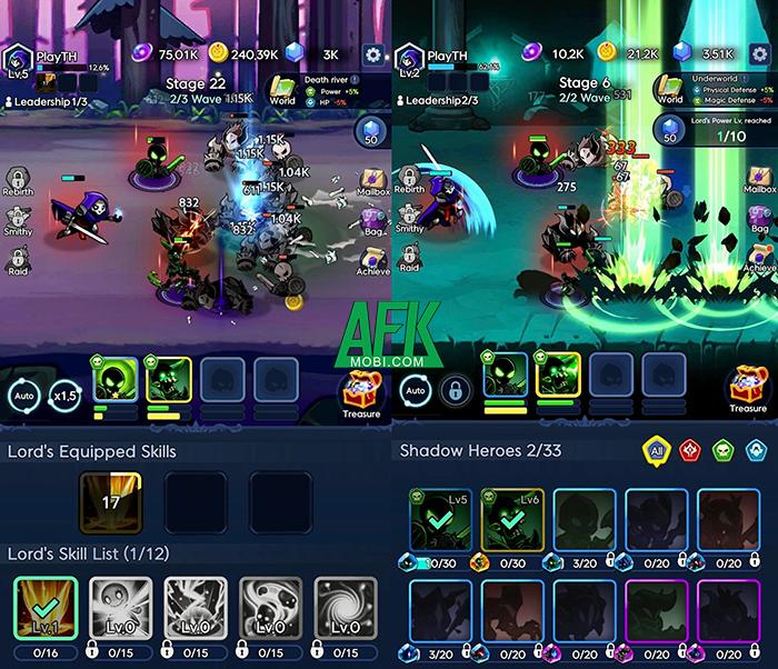 Trở thành thủ lĩnh của đạo quân chiến binh bóng tối trong Shadow Knight: Idle RPG 1