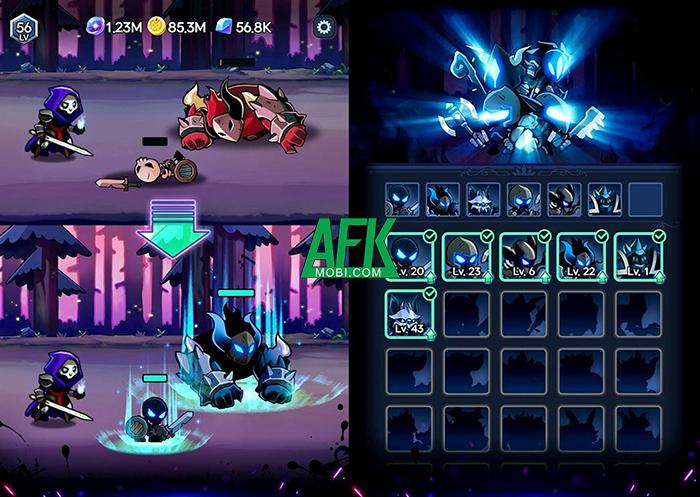 Trở thành thủ lĩnh của đạo quân chiến binh bóng tối trong Shadow Knight: Idle RPG 0