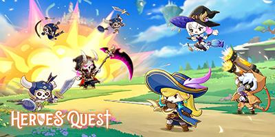 Heroes' Quest: AFK Explorer game idle thẻ tướng có tính năng nuôi pet đầy mới lạ