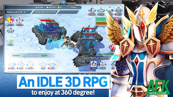 Nhập vai săn quái chưa bao giờ nhàn đến thế với INFINITE HERO : 3D Idle RPG 0
